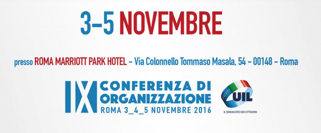 IX Conferenza Organizzazione