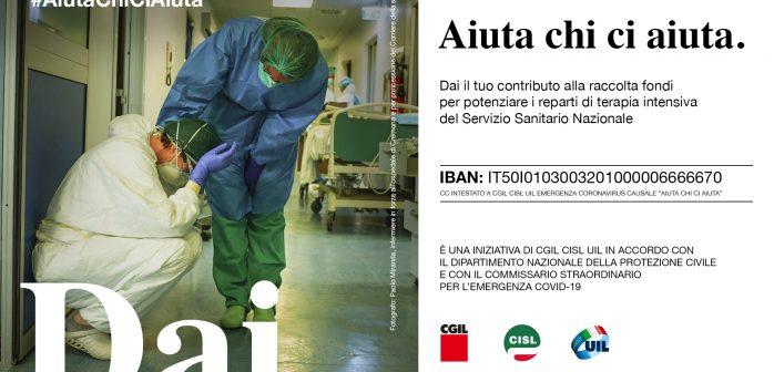 Cgil, Cisl, Uil: raccolto un milione e 900 mila euro per sostenere i reparti di terapie intensive AIUTA CHI CI AIUTA
