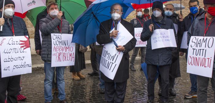 Intervento del Segretario generale Uil Pensionati Carmelo Barbagallo alla manifestazione 'Uomini contro la violenza sulle donne'