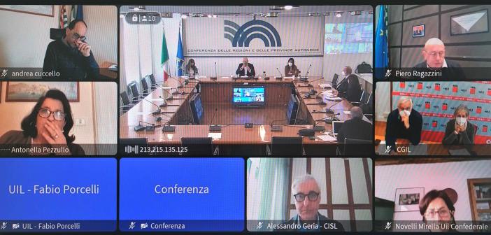 Non autosufficienza: al via il Tavolo di confronto Conferenza Regioni-Organizzazioni sindacali
